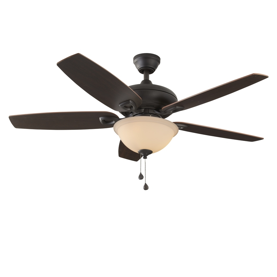 Outdoor Ceiling Fans For Coastal Areas For Fashionable Shop Harbor Breeze Coastal Creek 52 In Bronze Indoor Ceiling Fan (View 10 of 20)