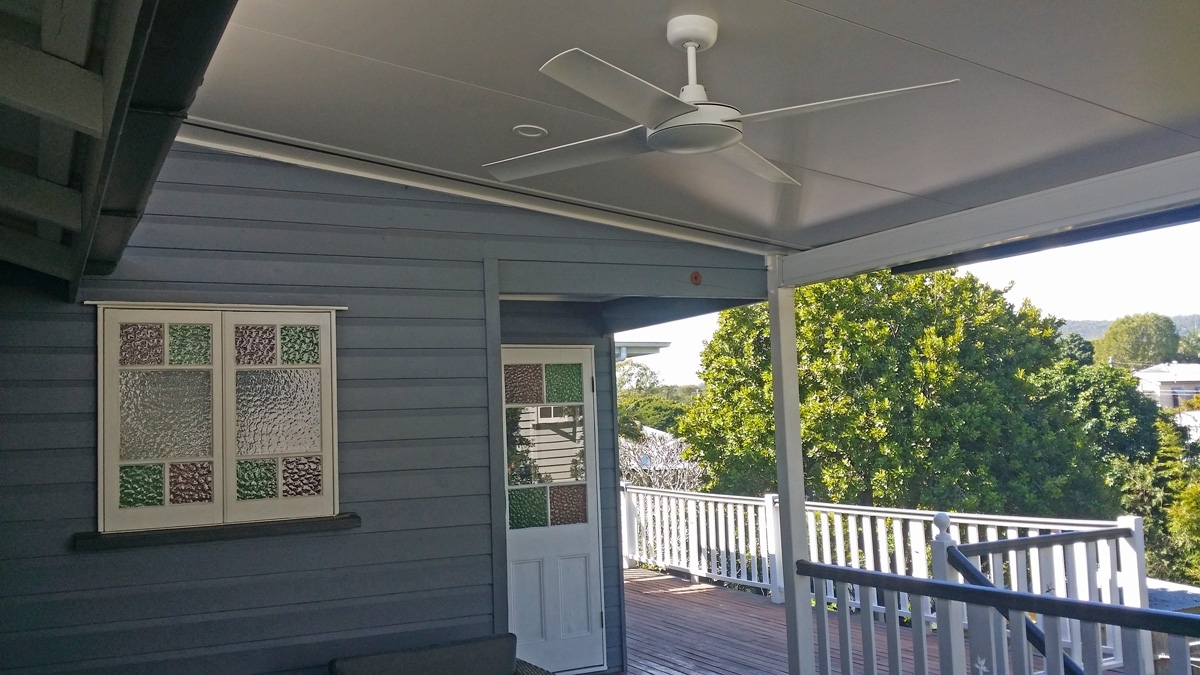 Outdoor Ceiling Fans For Decks Inside Well Known Ceiling Fans Installations – Brisbane Electrician : Birdman Electrical (View 13 of 20)