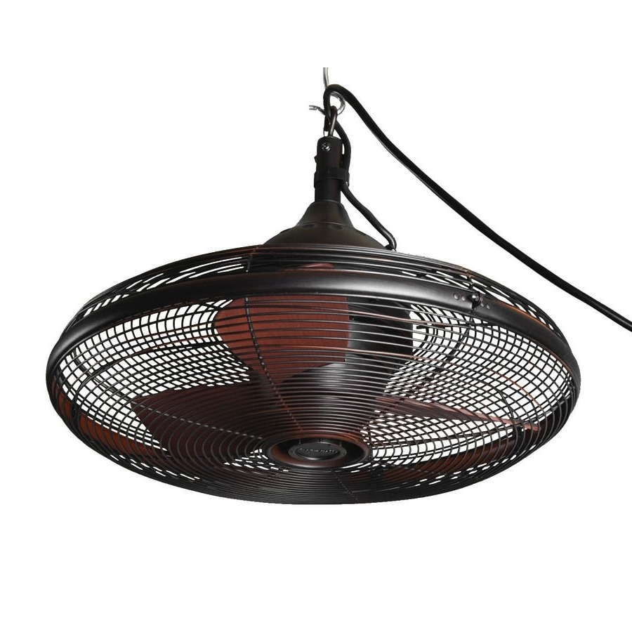 Outdoor Ceiling Fans For Gazebo Pertaining To Best And Newest Shop Allen + Roth Valdosta 20 In Oil Rubbed Bronze Outdoor Downrod (Gallery 3 of 20)