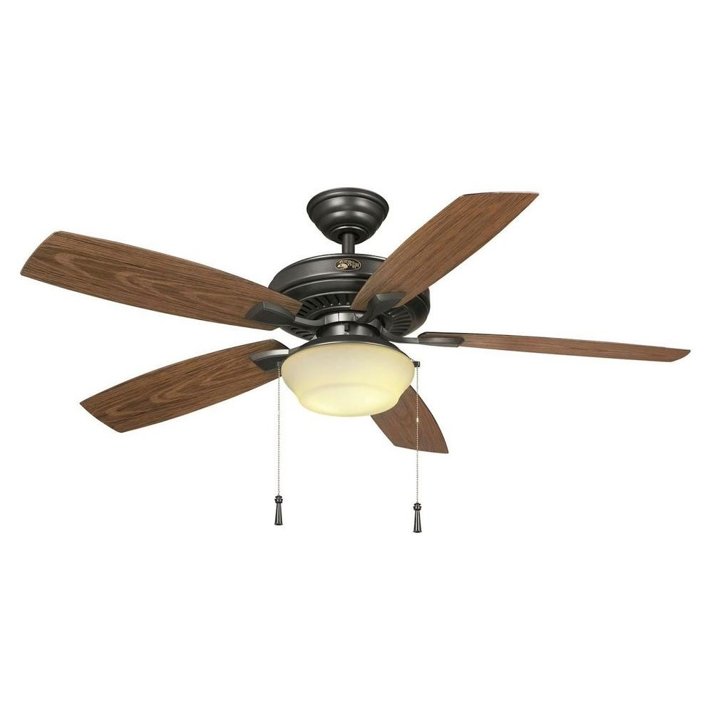 Outdoor Ceiling Fans For Gazebo Regarding Latest Hampton Bay Gazebo 52 In. Led Indoor/outdoor Natural Iron Ceiling (Gallery 4 of 20)