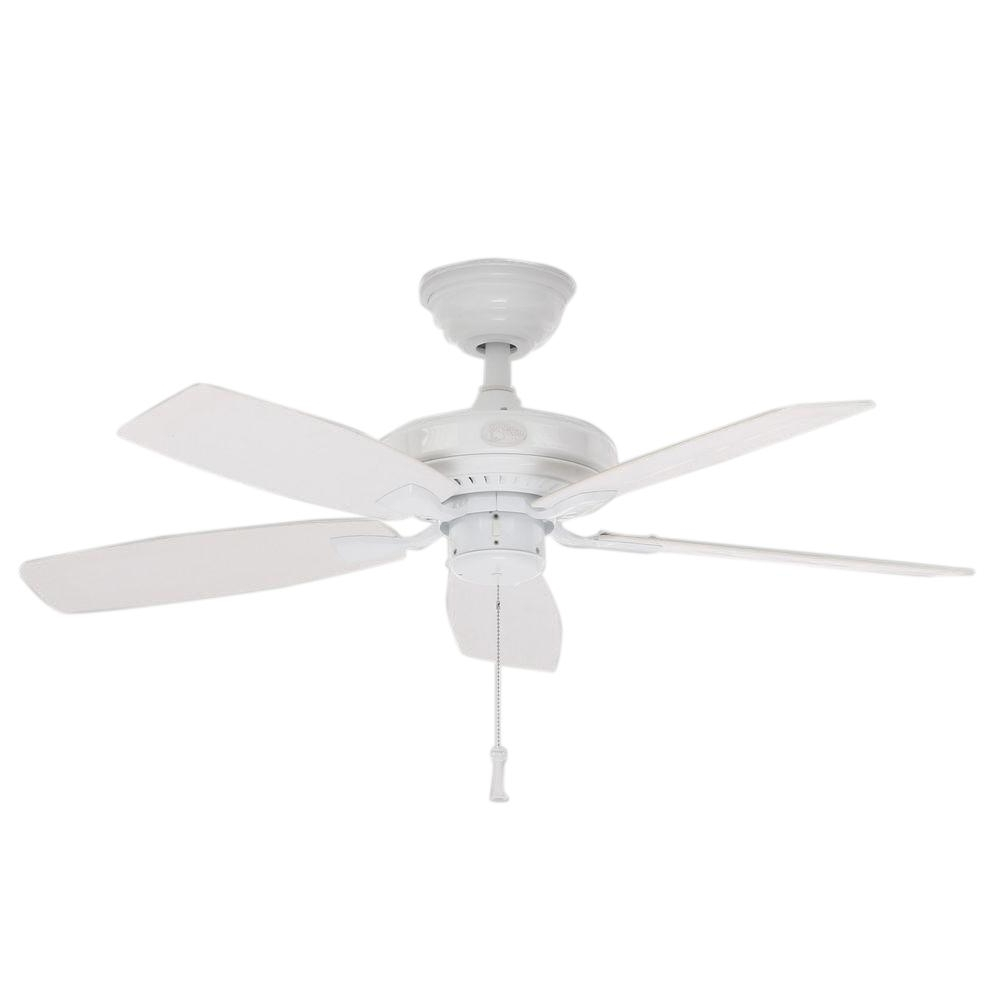 Outdoor Ceiling Fans For Gazebo Throughout 2018 Hampton Bay Gazebo Ii 42 In. Indoor/outdoor White Ceiling Fan Yg187 (Gallery 7 of 20)