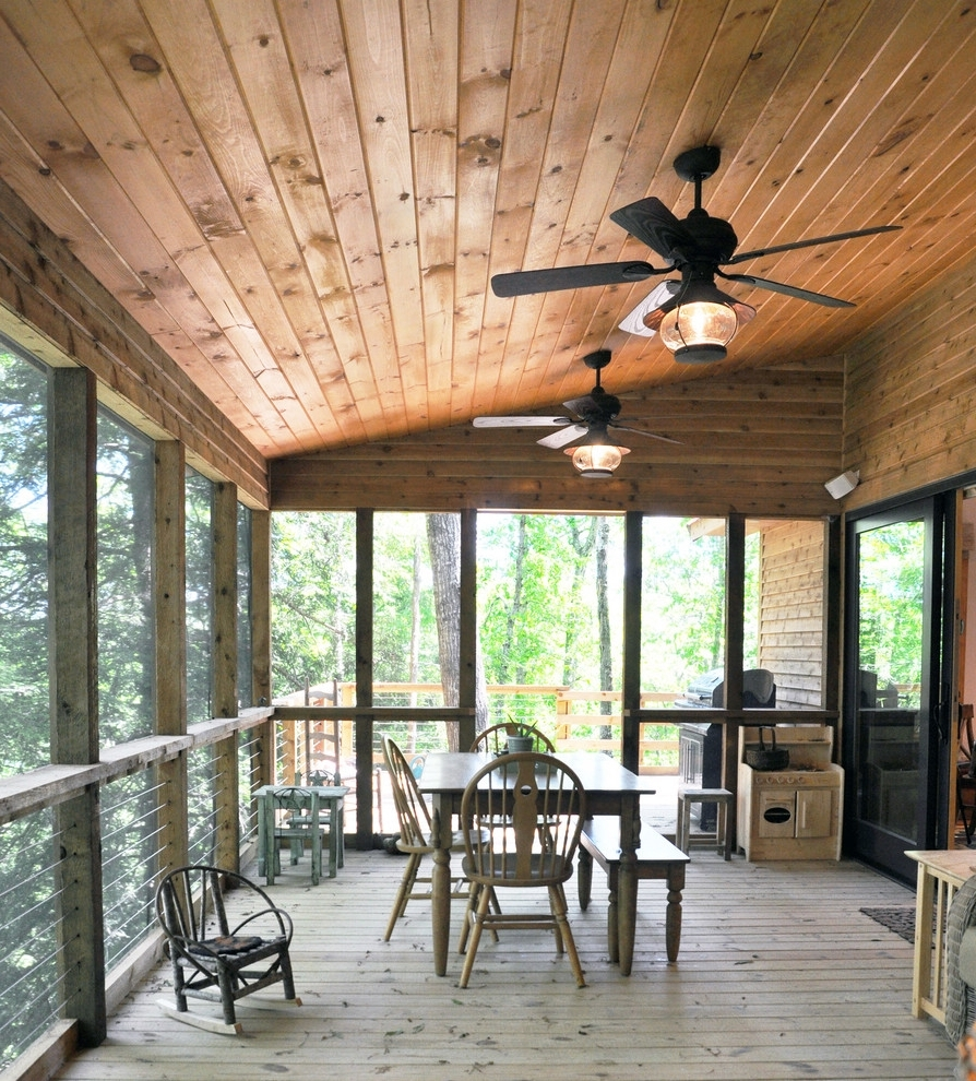 Outdoor Ceiling Fans For Porch Pertaining To 2018 Outdoor Wood Ceiling Ideas Contemporary Ceiling Fans Porch (View 15 of 20)