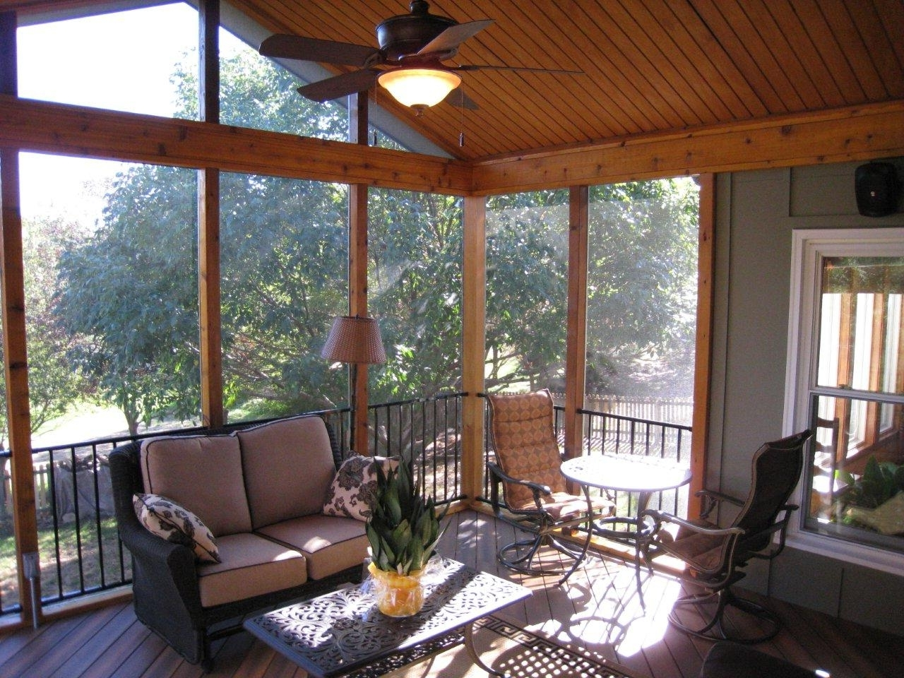 Outdoor Ceiling Fans For Porches Within Most Recently Released Low Profile Outdoor Ceiling Fans With Light In Farmhouse With (View 15 of 20)