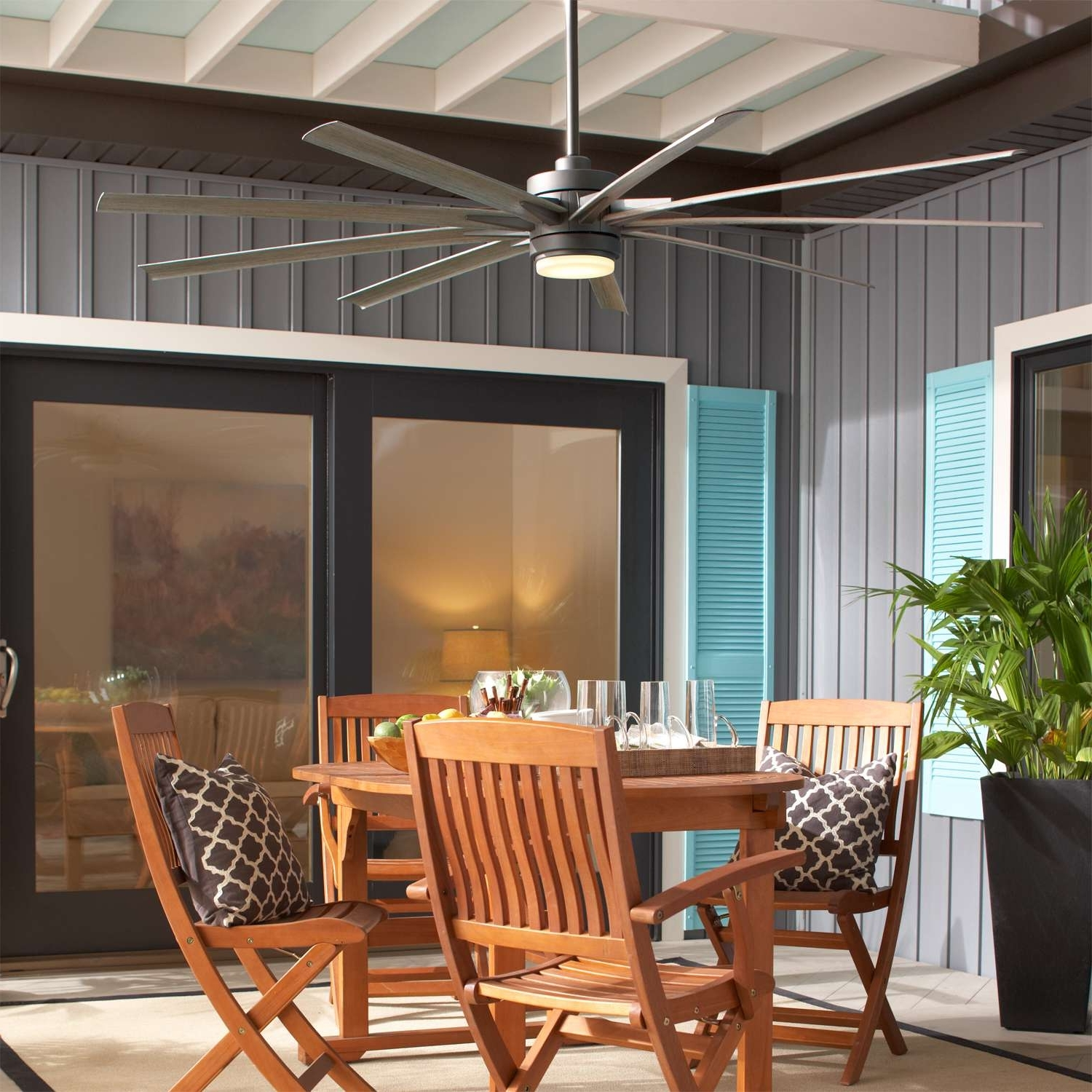 Outdoor Ceiling Fans For Screened Porches Inside Well Liked 4 Questions About Outdoor Ceiling Fans (Gallery 5 of 20)