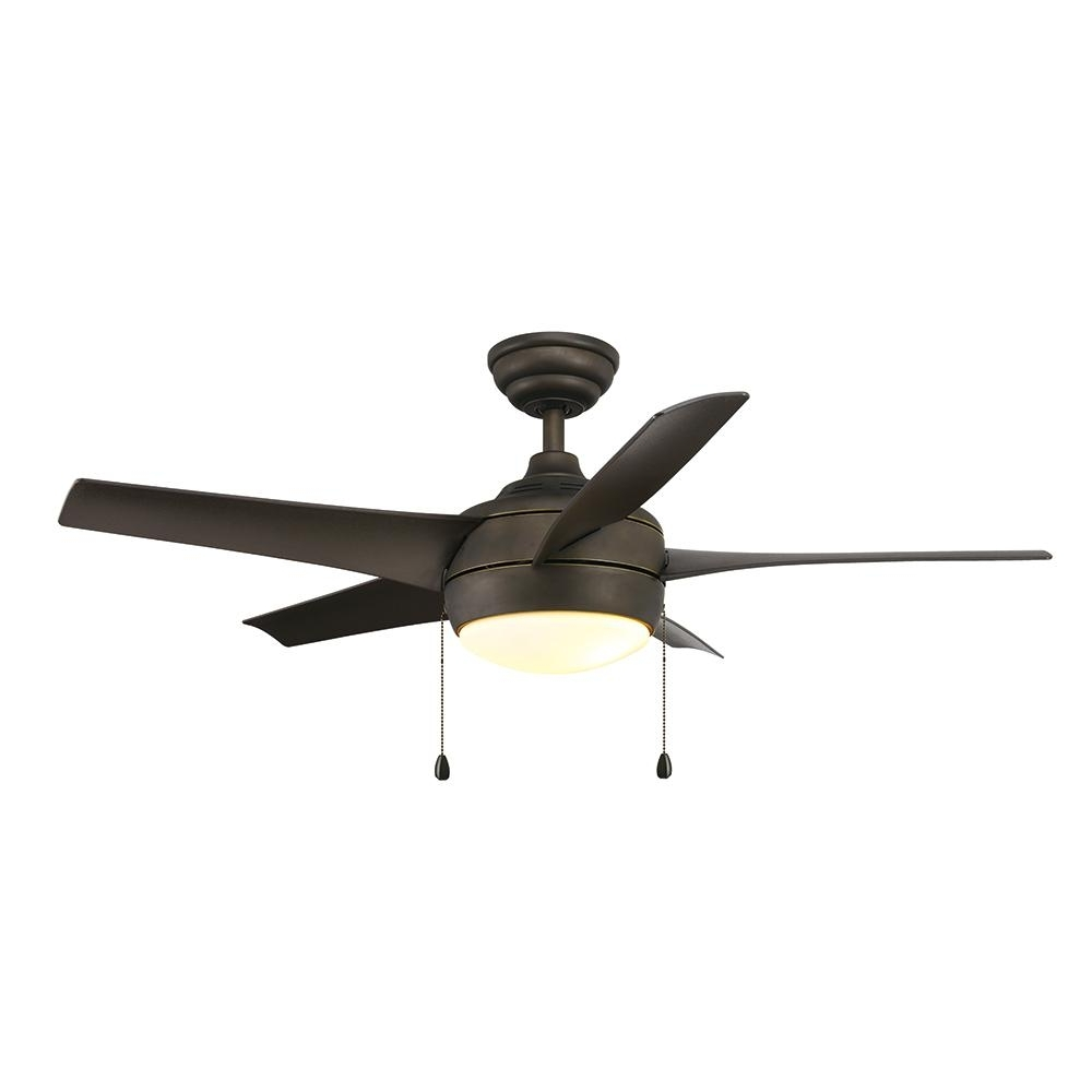 Outdoor Ceiling Fans For Windy Areas Pertaining To Well Known Home Decorators Collection Windward 44 In. Led Oil Rubbed Bronze (Gallery 18 of 20)