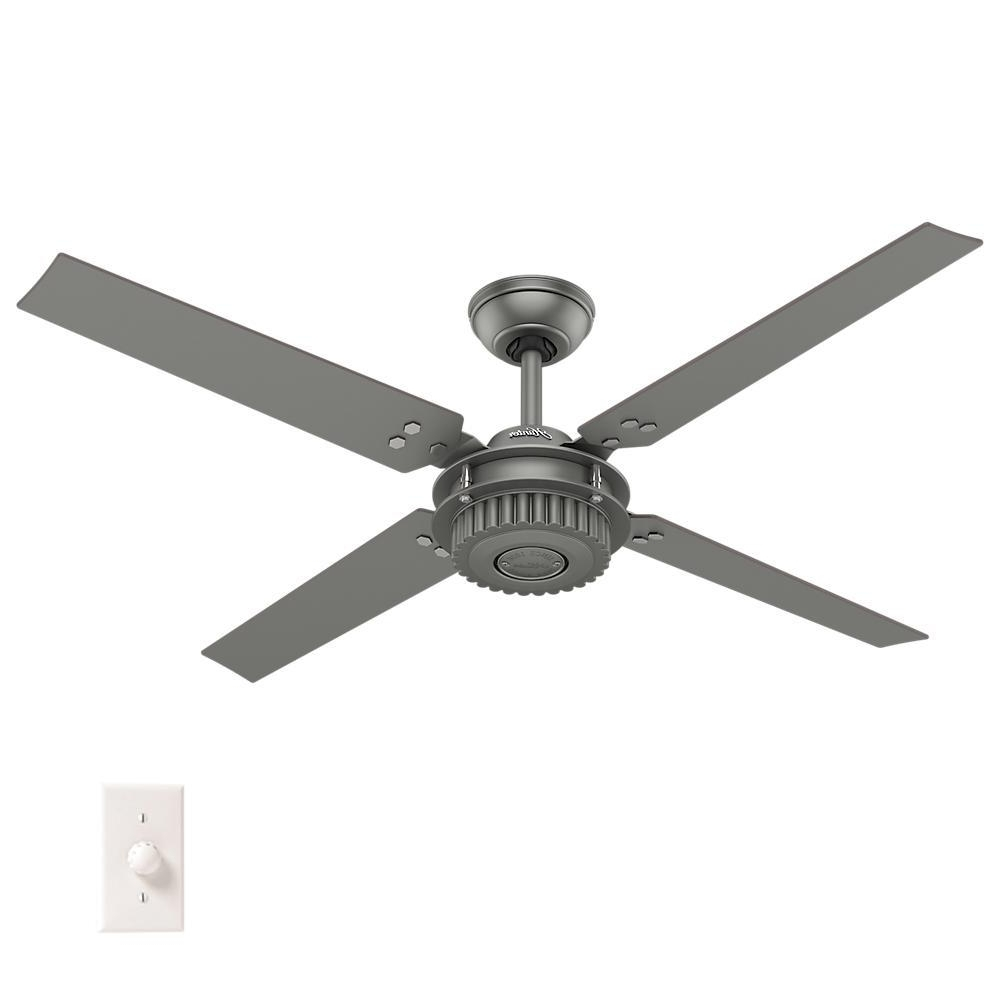 Outdoor Ceiling Fans For Windy Areas Regarding Most Current Hunter Chronicle 54 In (View 6 of 20)