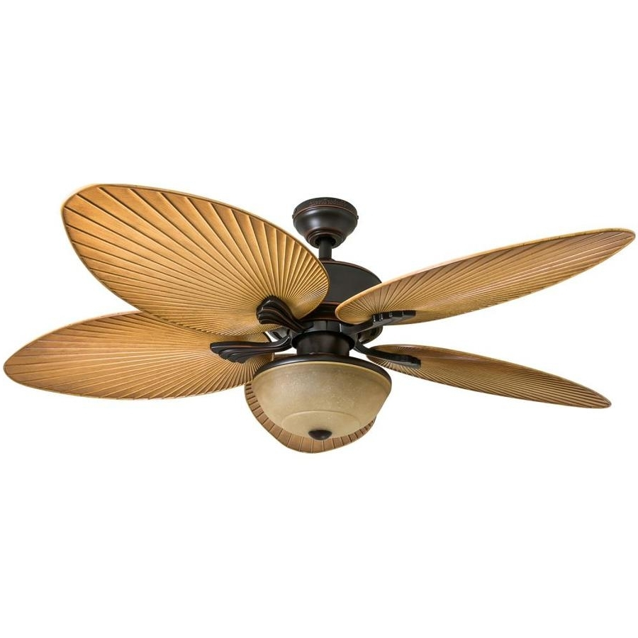 Outdoor Ceiling Fans With Cord With Best And Newest Shop Harbor Breeze Chalmonte 52 In Oil Rubbed Bronze Indoor/outdoor (View 16 of 20)