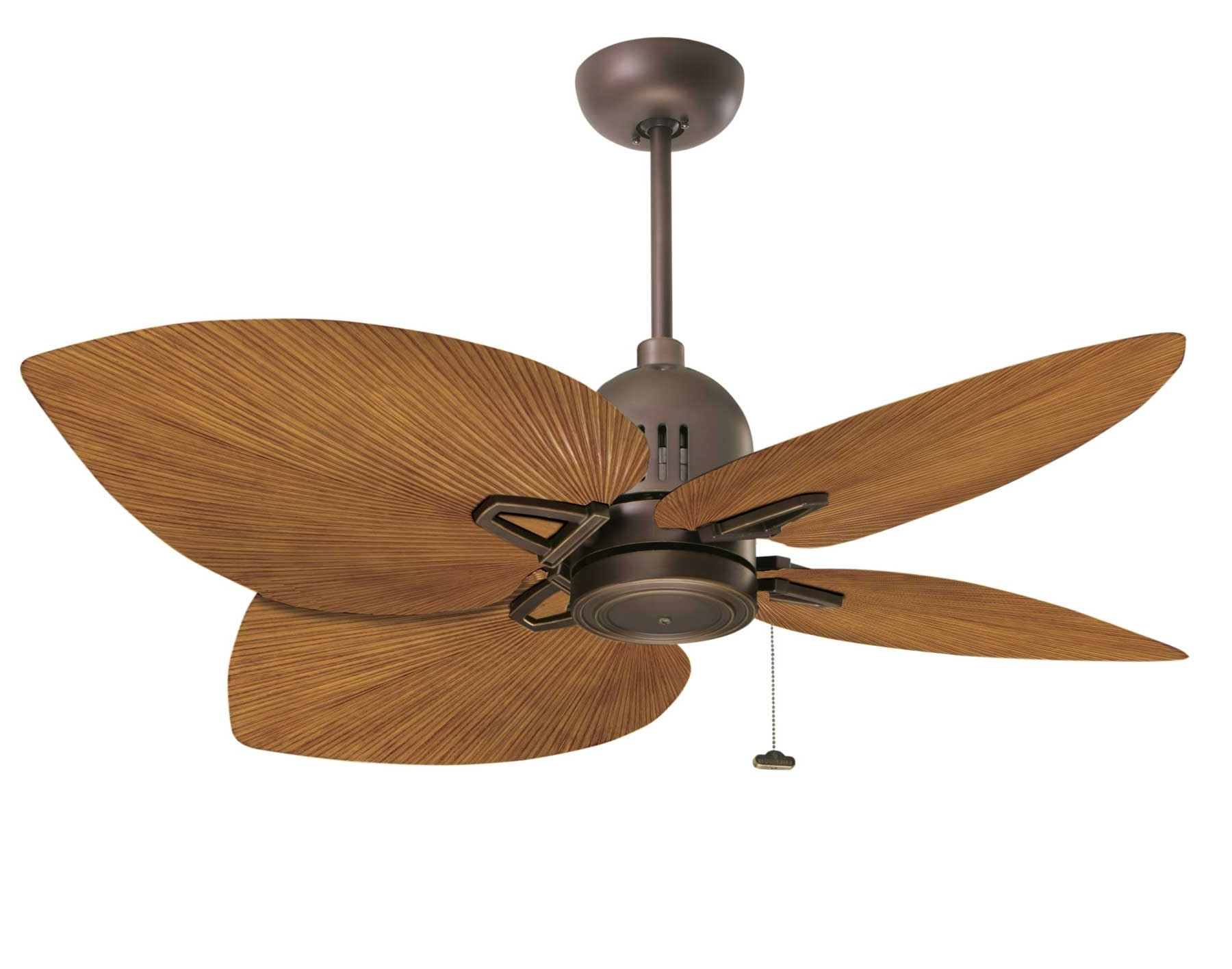 Outdoor Ceiling Fans With Covers Pertaining To Favorite Decor: Bring An Island Look Into Your Home With Cool Ceiling Fan (View 12 of 20)