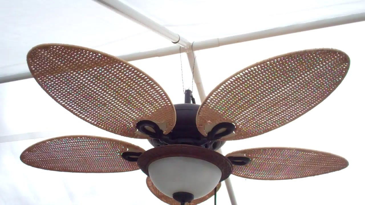 Outdoor Ceiling Fans With Covers Regarding Favorite Rigging Up A Gazebo Ceiling Fan – Youtube (View 18 of 20)