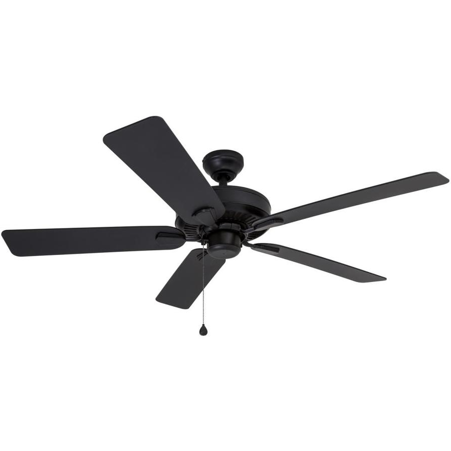 Outdoor Ceiling Fans With Guard For Recent Shop Harbor Breeze Calera 52 In Aged Bronze Indoor/outdoor Downrod (View 13 of 20)