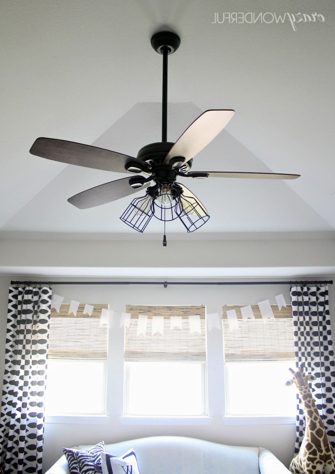 Outdoor Ceiling Fans With Guard Throughout Newest 5 Ways To Makeover A Light (View 14 of 20)