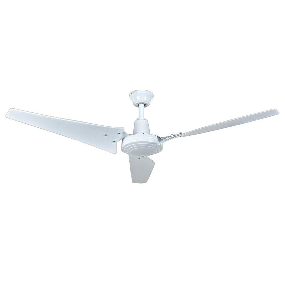 Outdoor Ceiling Fans With High Cfm In Famous Hampton Bay Industrial 60 In. Indoor White Ceiling Fan With Wall (Gallery 10 of 20)