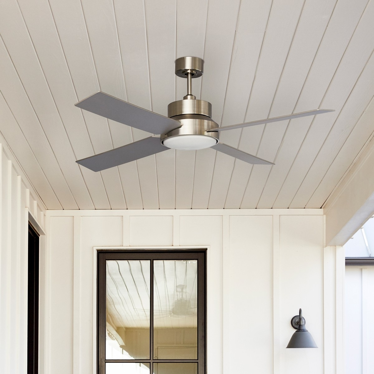 Outdoor Ceiling Fans With Hook For Trendy Dialogue Outdoor Ceiling Fan :: Stori Modern (Gallery 11 of 20)