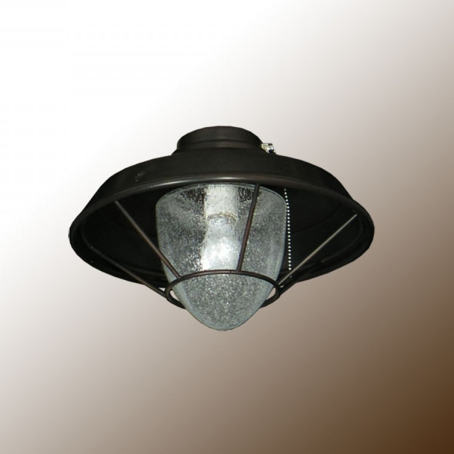 Outdoor Ceiling Fans With Lantern Inside Best And Newest Outdoor Lantern Fan Light With Clear Seeded Glass (View 18 of 20)