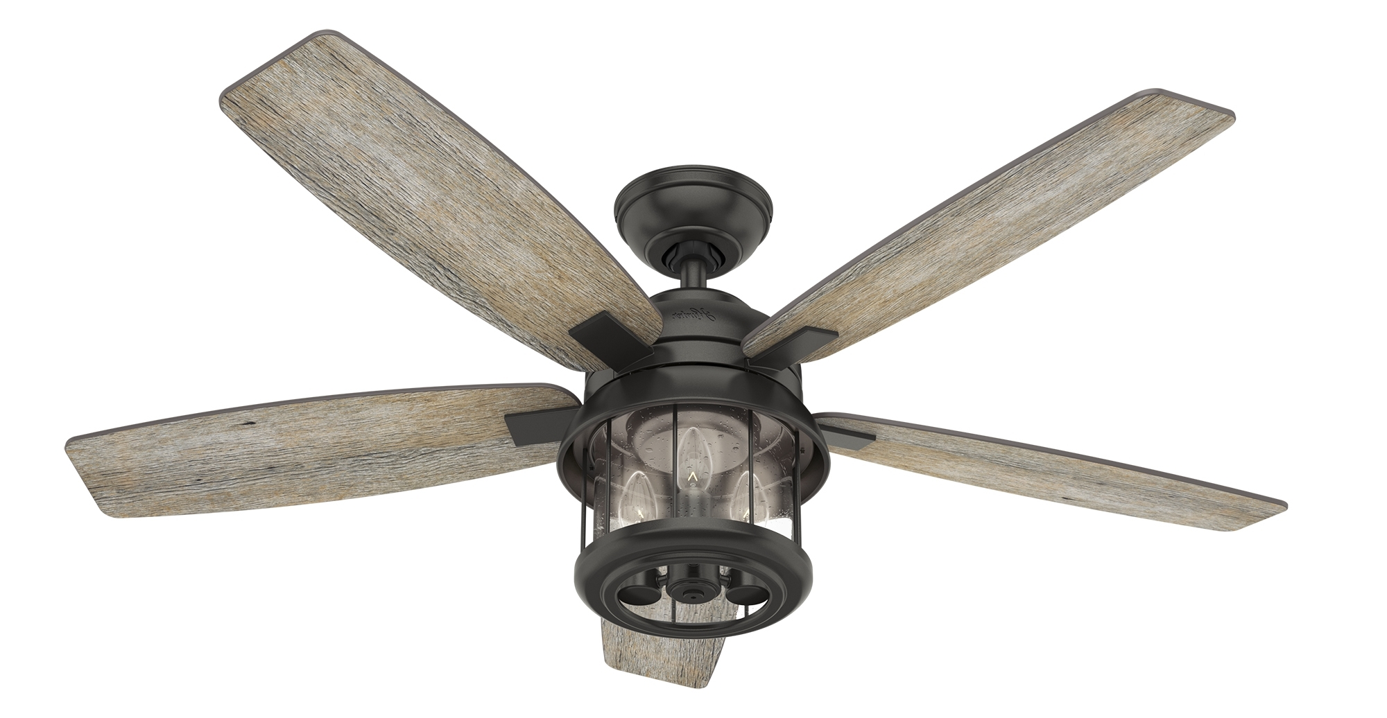 Outdoor Ceiling Fans With Lantern Light Intended For 2019 Coral Bay Lantern Outdoor Ceiling Fan With Led Edison Light – Hunter (Gallery 11 of 20)