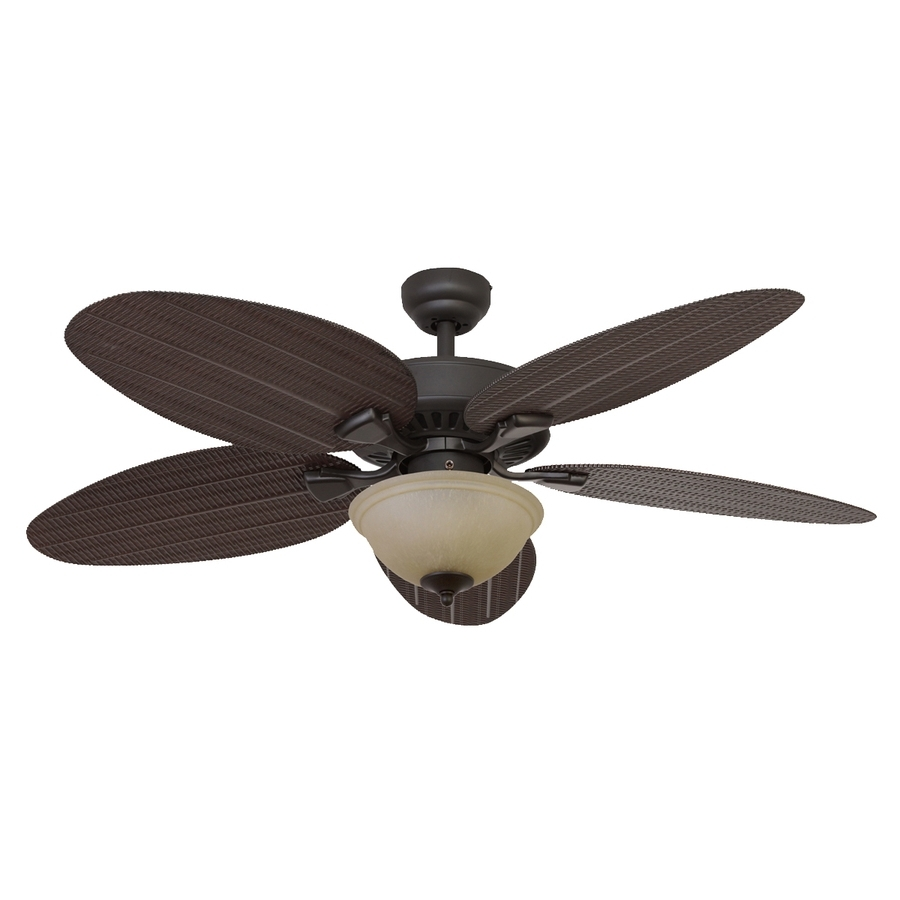 Outdoor Ceiling Fans With Leaf Blades For Well Known Shop Palm Coast Summerland 52 In Bronze Indoor/outdoor Ceiling Fan (View 15 of 20)