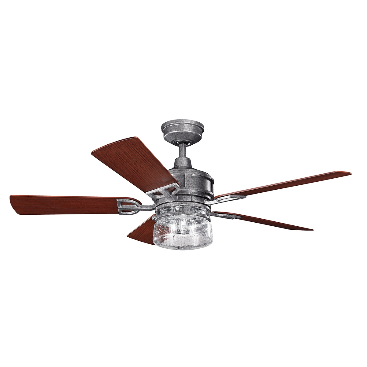 "Outdoor Ceiling Fans With Lights Wet Rated Attractive 52"" Lyndon Regarding Best And Newest Wet Rated Outdoor Ceiling Fans With Light (Gallery 14 of 20)"