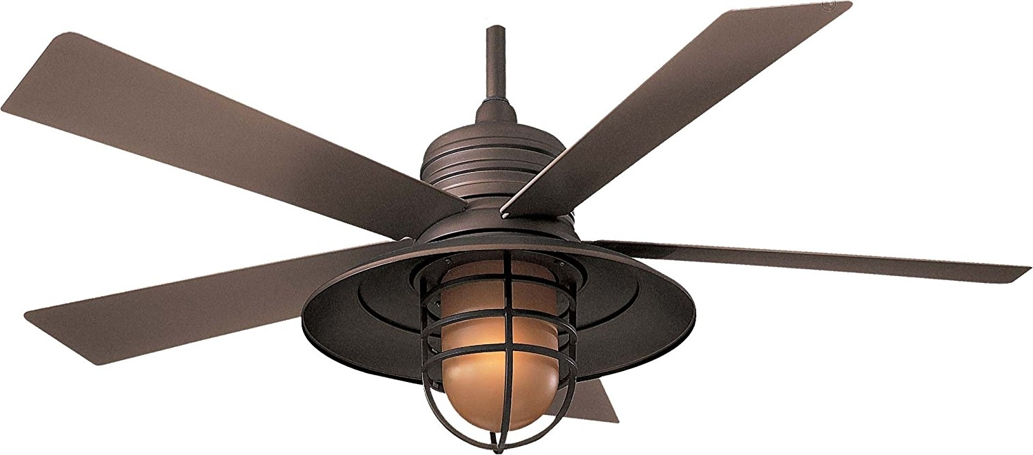 Outdoor Ceiling Fans With Lights Wet Rated Popular Outdoor Ceiling Regarding Fashionable Rustic Outdoor Ceiling Fans With Lights (View 9 of 20)