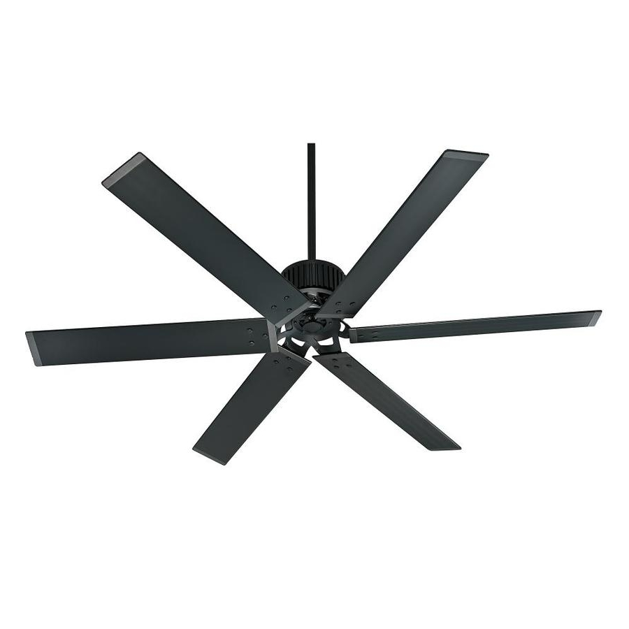 Outdoor Ceiling Fans With Long Downrod Regarding Well Liked Gorgeous Inspiration Black Outdoor Ceiling Fan Shop Hunter (Gallery 9 of 20)