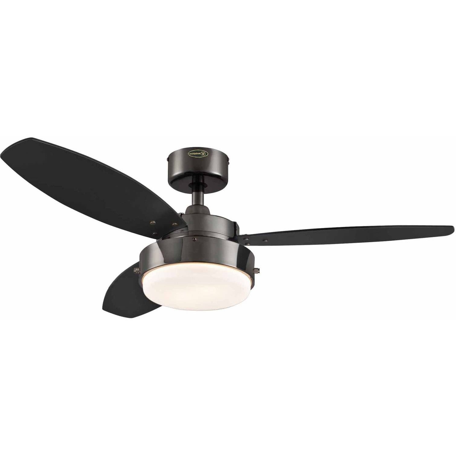 "Outdoor Ceiling Fans With Metal Blades Regarding Latest Westinghouse 7876400 42"" Gun Metal 3 Blade Reversible Ceiling Fan (View 11 of 20)"