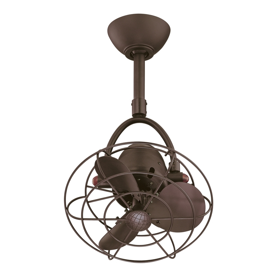 Outdoor Ceiling Fans With Metal Blades With Well Known Shop Matthews Diane 13 In Textured Bronze Indoor/outdoor Downrod (View 10 of 20)