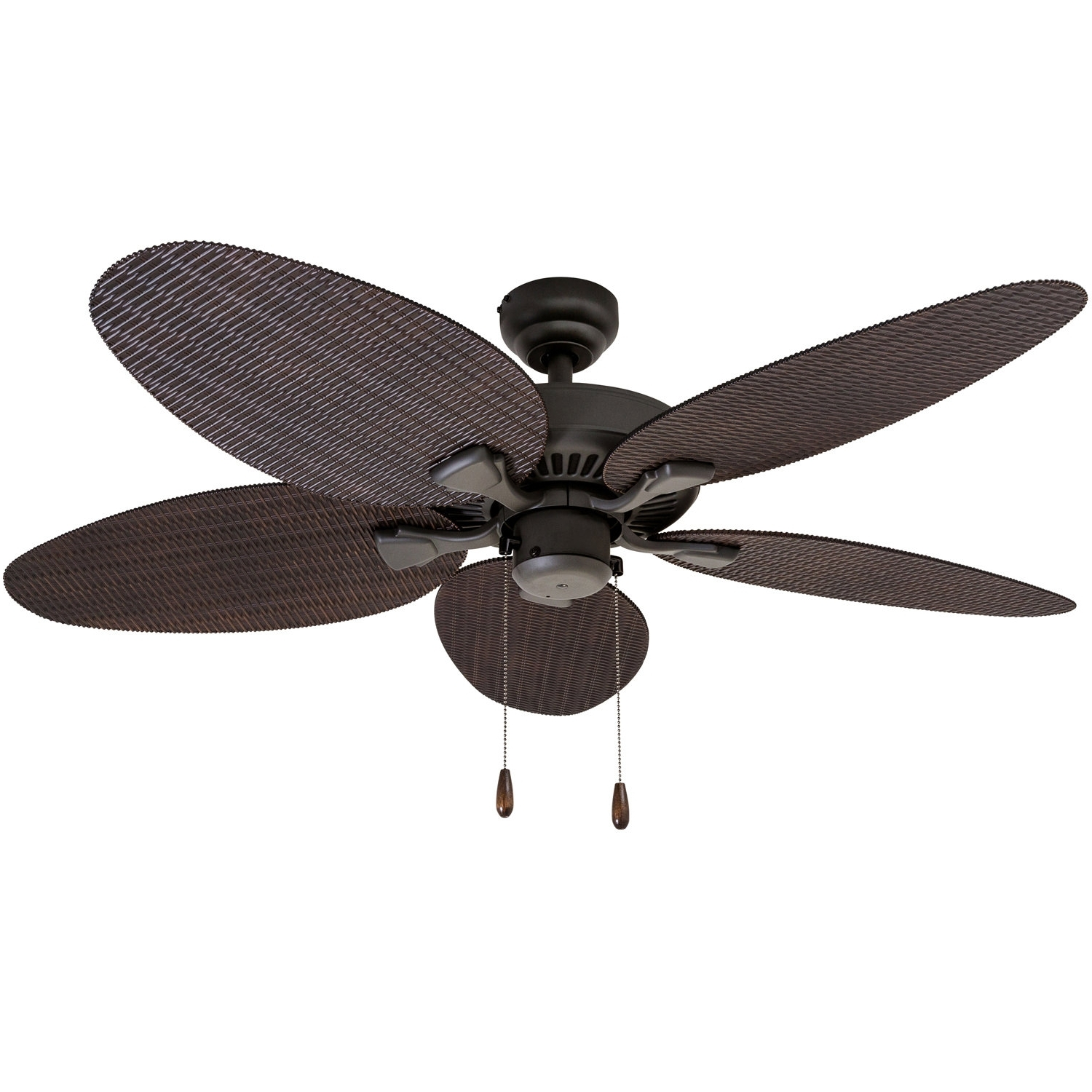 "Outdoor Ceiling Fans With Plastic Blades Regarding Favorite Bayou Breeze 48"" Kalea 5 Blade Outdoor Ceiling Fan & Reviews (View 14 of 20)"
