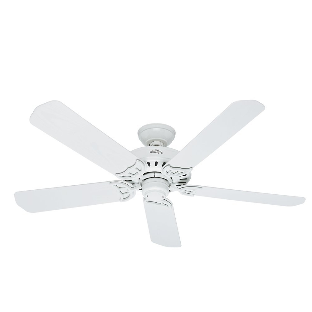 Outdoor Ceiling Fans With Plastic Blades Within Most Current Top 4 Hunter Outdoor Ceiling Fans Reviewed (View 16 of 20)