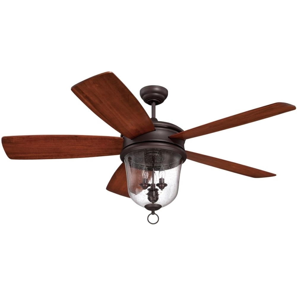 """Outdoor Ceiling Fans With Remote Inside Well Known Shop Craftmade Fredericksburg Fredericksburg 60"""" 5 Blade Indoor (View 11 of 20)"""
