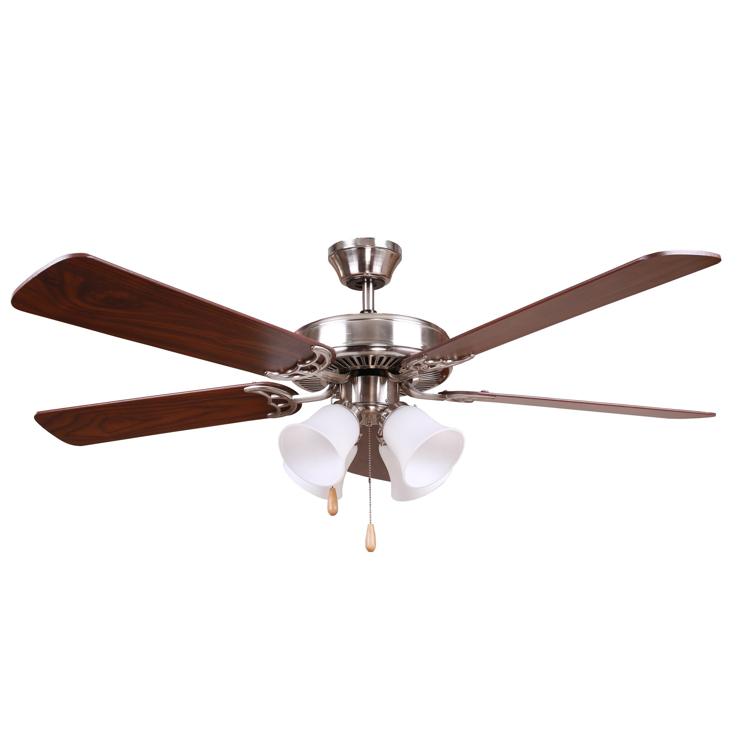 Outdoor Ceiling Fans With Removable Blades With Fashionable Shop Y Decor Bright Brushed Nickel Finish 52 Inch Ceiling Fan – Free (View 15 of 20)