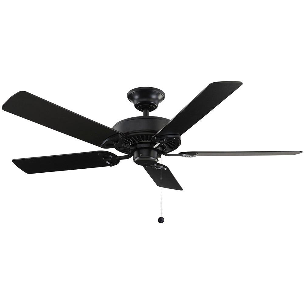 Outdoor Ceiling Fans With Removable Blades With Regard To Preferred Farmington 52 In. Indoor Natural Iron Ceiling Fan 32764 – The Home Depot (Gallery 1 of 20)