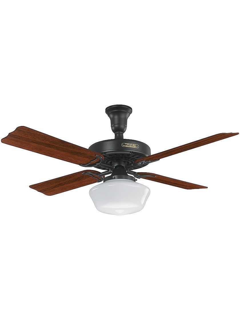 Featured Photo of Outdoor Ceiling Fans With Schoolhouse Light