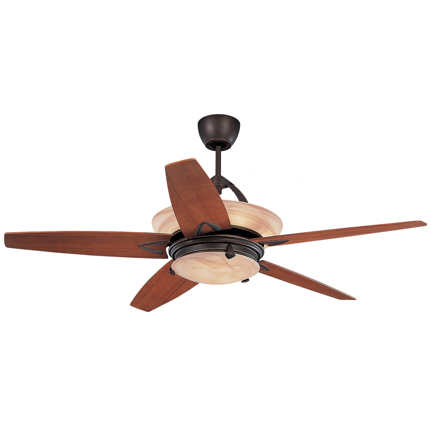 Outdoor Ceiling Fans With Uplights In Latest Monte Carlo Arch Roman Bronze 60 Inch Ceiling Fan With Remote (View 14 of 20)
