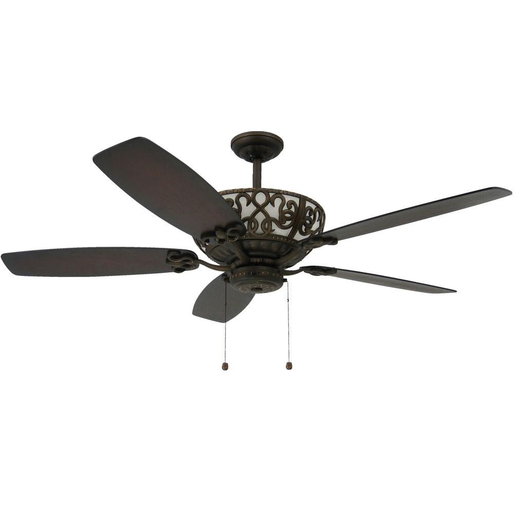 Outdoor Ceiling Fans With Uplights In Most Popular Troposair Excalibur 60 In. Rubbed Bronze Uplight Ceiling Fan 88500 (Gallery 4 of 20)