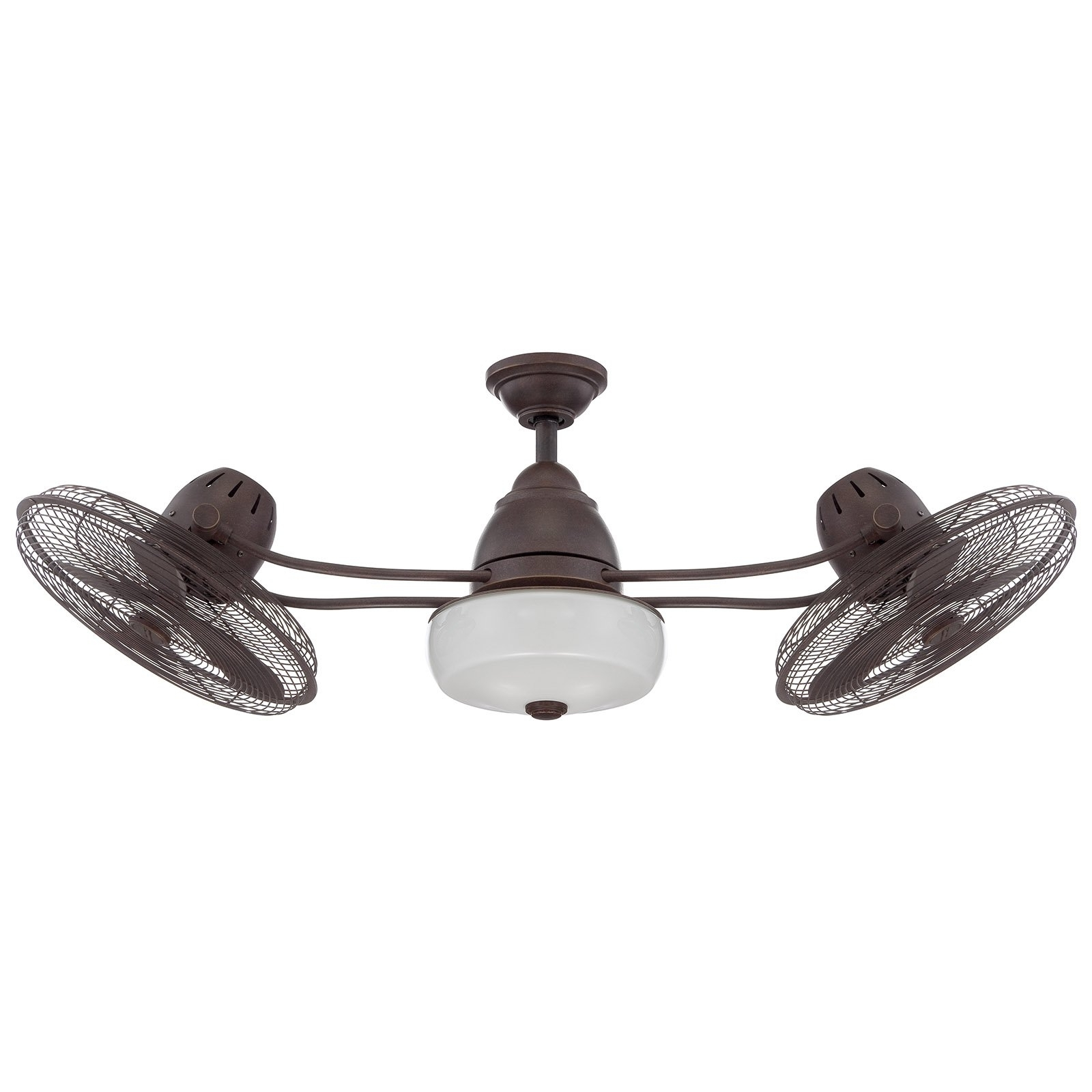 Outdoor Double Oscillating Ceiling Fans For Most Popular Craftmade Bellows Ii Bw248Ag6 48 In (View 8 of 20)