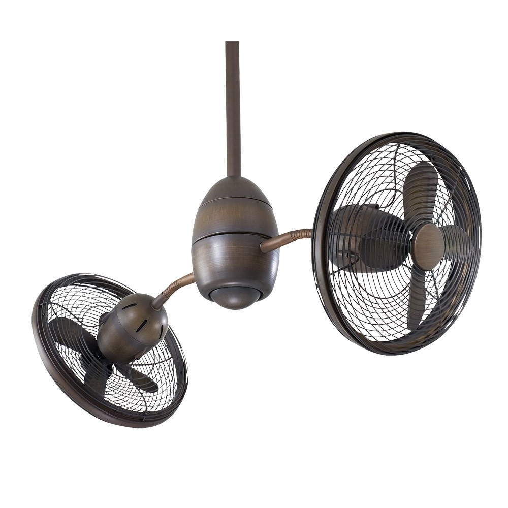 Outdoor Double Oscillating Ceiling Fans With Regard To Latest Oscillating Ceiling Fans Awesome Minka Aire Gyrette Fan 36 Gyro F (View 6 of 20)
