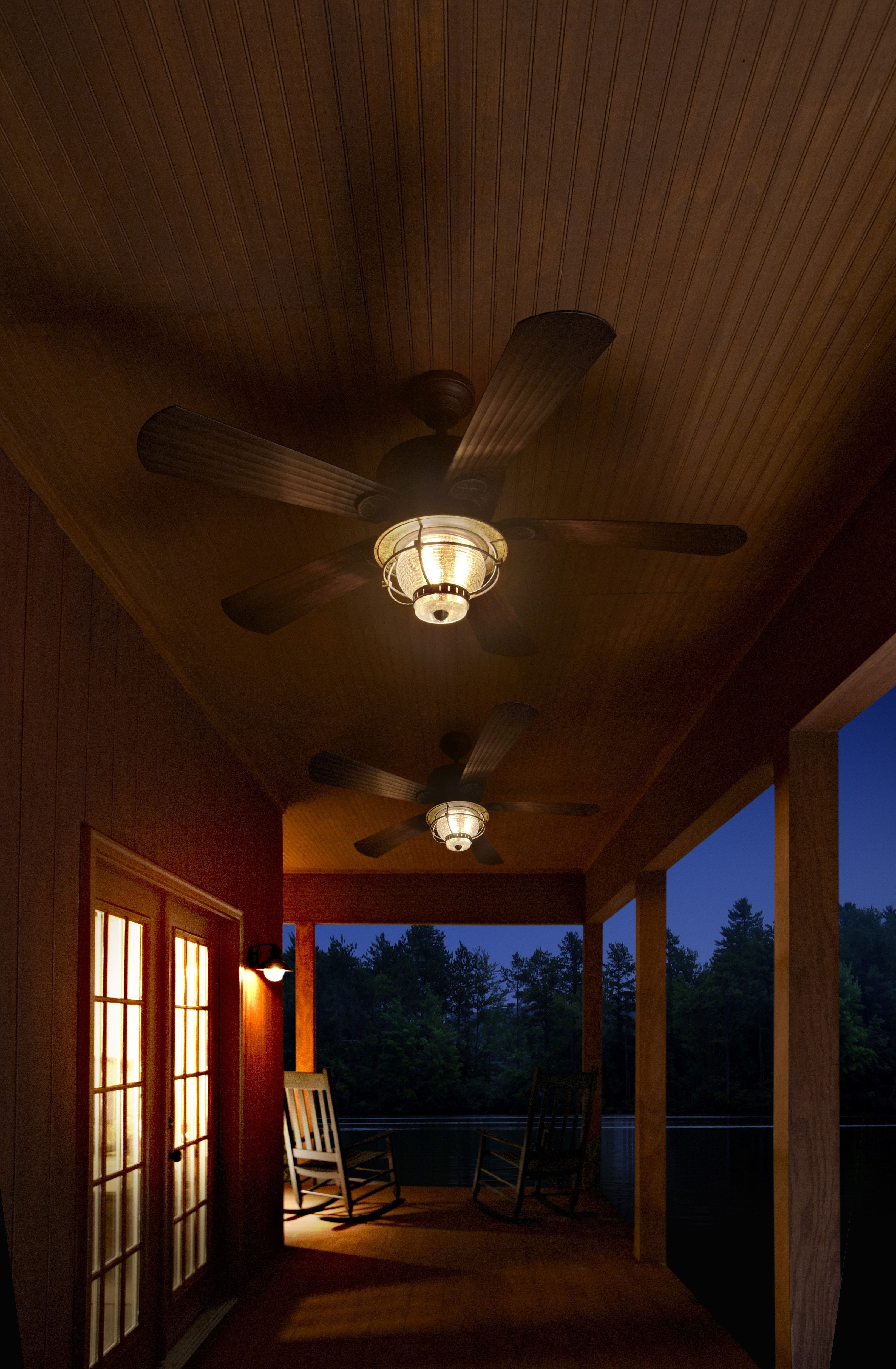 Outdoor Porch Ceiling Fans With Lights Inside Newest Be Prepared For The Summer Heat With Harbor Breeze Outdoor Ceiling (View 9 of 20)