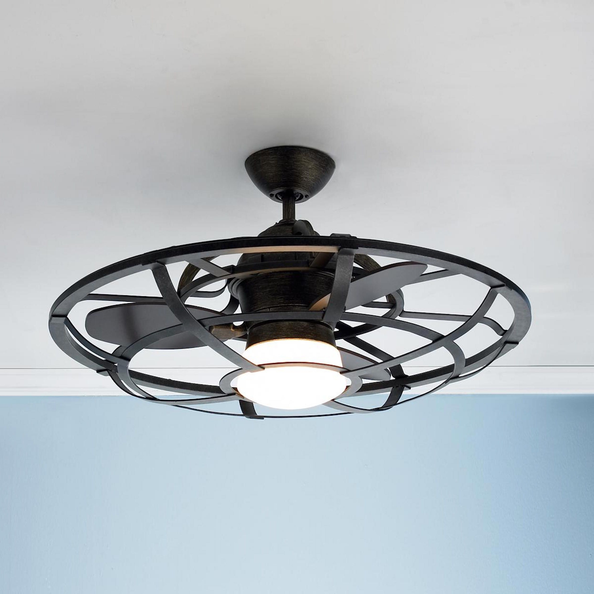 Outdoor Windmill Ceiling Fans With Light With Regard To Famous Farmhouse Ceiling Fan Lowes (View 12 of 20)