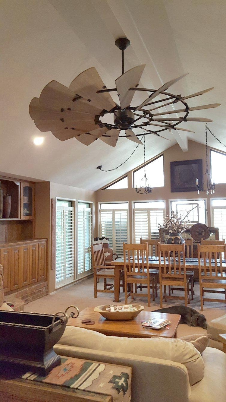 Outdoor Windmill Ceiling Fans With Light With Regard To Popular Charming Sale Windmill Ceiling Fan Sale Light Kit Diy Windmill (Gallery 13 of 20)