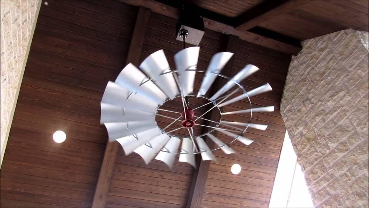 Outdoor Windmill Ceiling Fans With Light Within 2019 Windmill Ceiling Fans Of Texas Welcome! – Youtube (View 10 of 20)