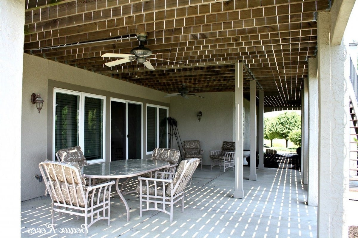 Picturesque Installing An Underdeck System Awnings In Decks To With Regard To Popular Outdoor Ceiling Fan Under Deck (Gallery 9 of 20)