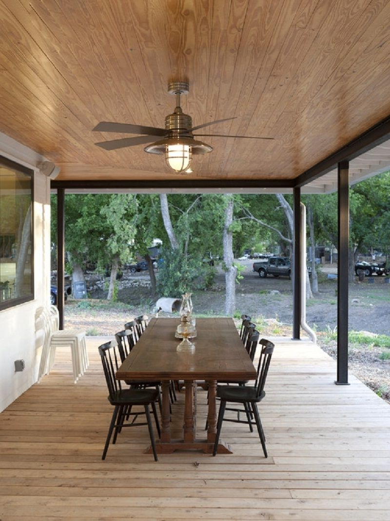 Featured Photo of Outdoor Porch Ceiling Fans with Lights