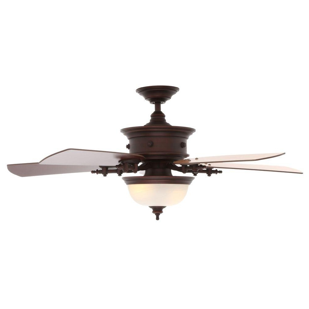 Popular Copper Outdoor Ceiling Fans Within Ceiling Fan: Unique Copper Ceiling Fan With Light Design Rustic (Gallery 15 of 20)