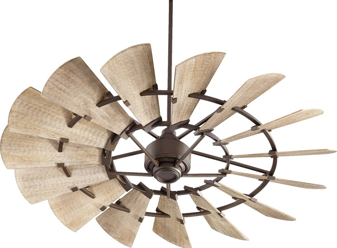 Popular Froid 60″ Windmill 15 Blade Ceiling Fan – Farmhouse Touches In Outdoor Windmill Ceiling Fans With Light (View 6 of 20)