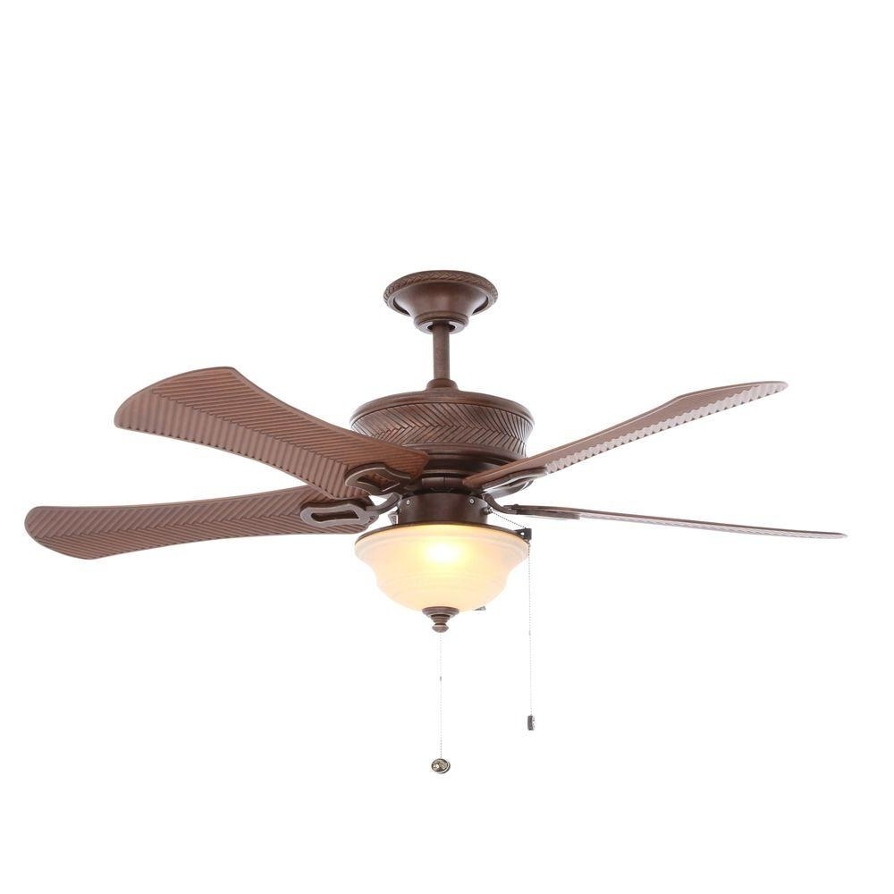 Popular Hampton Bay Outdoor Ceiling Fans With Lights Intended For Hampton Bay Algiers 54 In. Indoor/outdoor Bavarian Bronze Ceiling (Gallery 4 of 20)