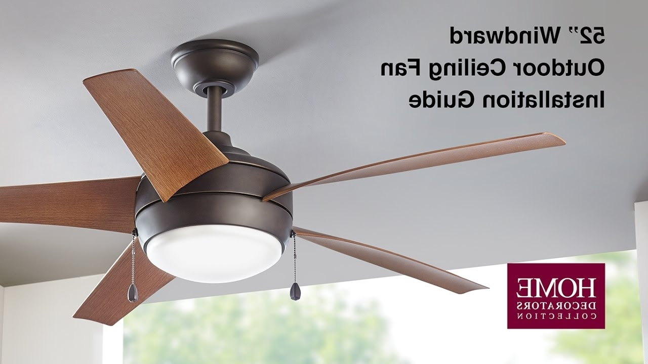 Popular How To Install The 52 In Windward Outdoor Ceiling Fan – Youtube Throughout 36 Inch Outdoor Ceiling Fans With Light Flush Mount (View 16 of 20)