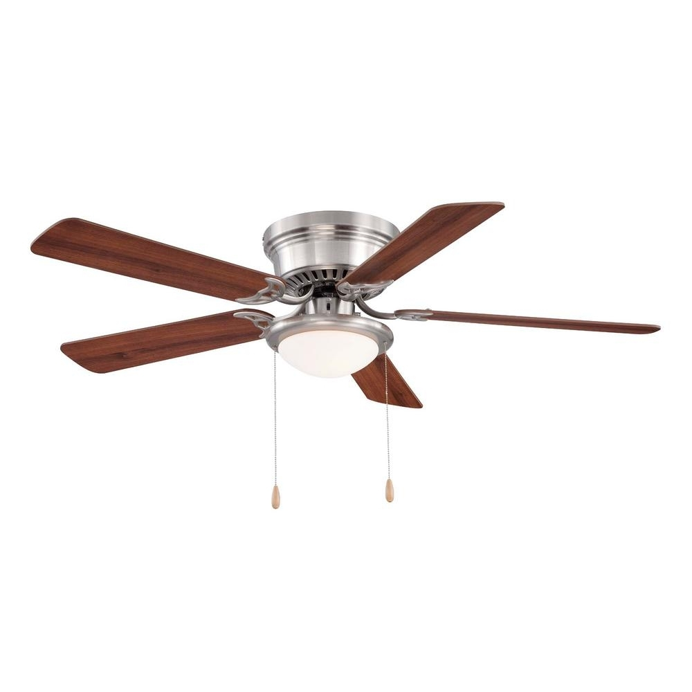 Popular Hugger Outdoor Ceiling Fans With Lights In Hugger 52 In. Led Indoor White Ceiling Fan With Light Kit Al383Led (Gallery 4 of 20)