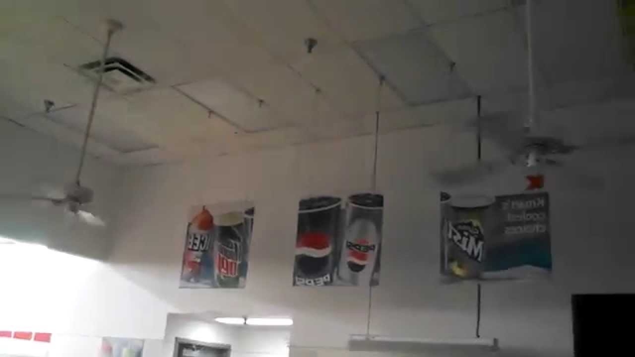 Popular Hunter Original Ceiling Fans In A Kmart Snack Bar – Youtube Within Kmart Outdoor Ceiling Fans (View 11 of 20)