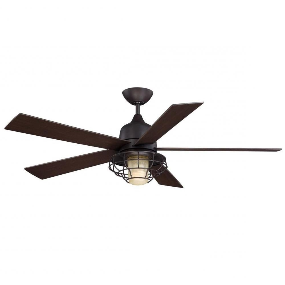 Popular Outdoor Ceiling Fans With Remote In Illumine Gigg 52 In. English Bronze Indoor/outdoor Ceiling Fan Cli (Gallery 11 of 20)