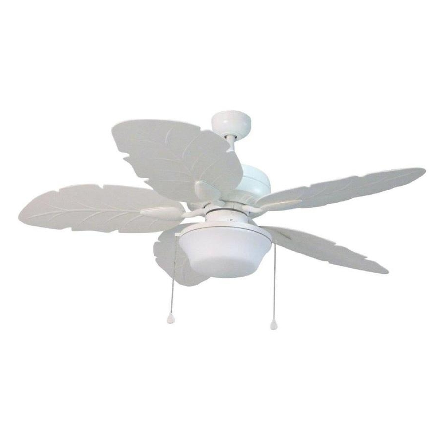 Preferred Heavy Duty Outdoor Ceiling Fans Intended For Shop Harbor Breeze Waveport 52 In White Led Indoor/outdoor Downrod (View 19 of 20)