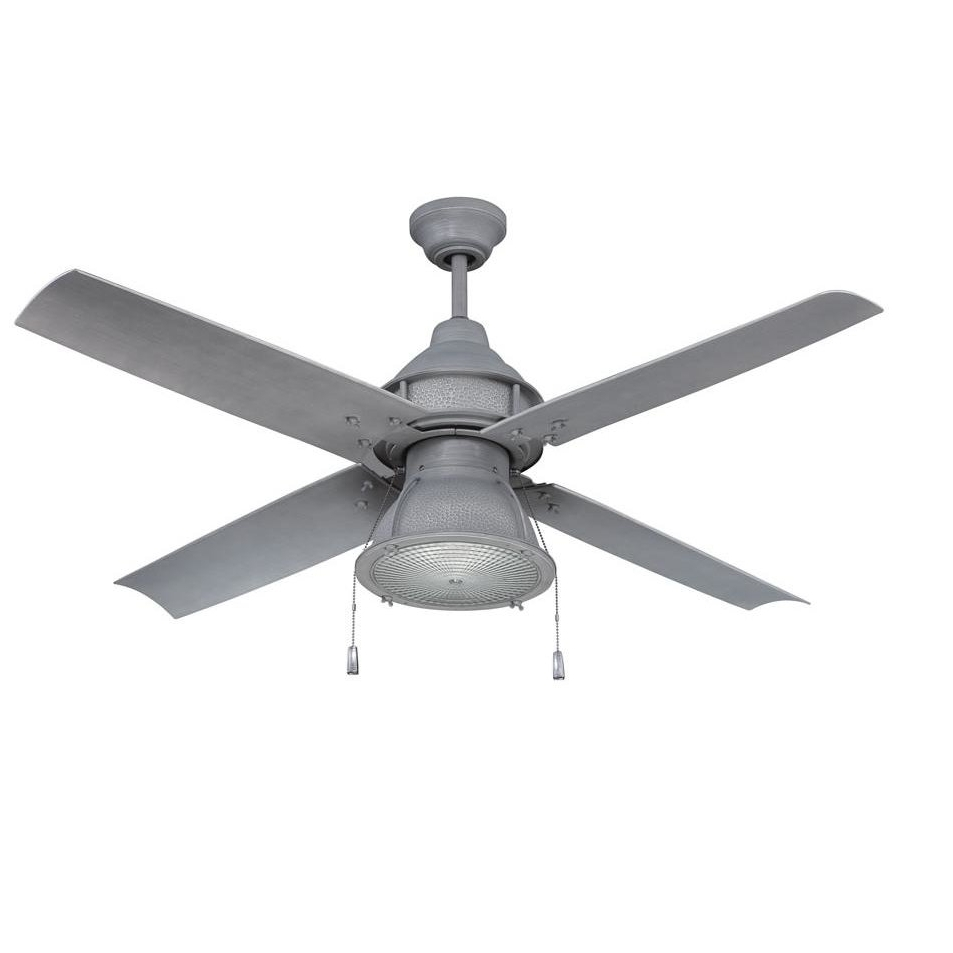 "Preferred Outdoor Ceiling Fans With Removable Blades Within 17 Stories 52"" Martika 4 Blade Outdoor Led Ceiling Fan & Reviews (Gallery 12 of 20)"